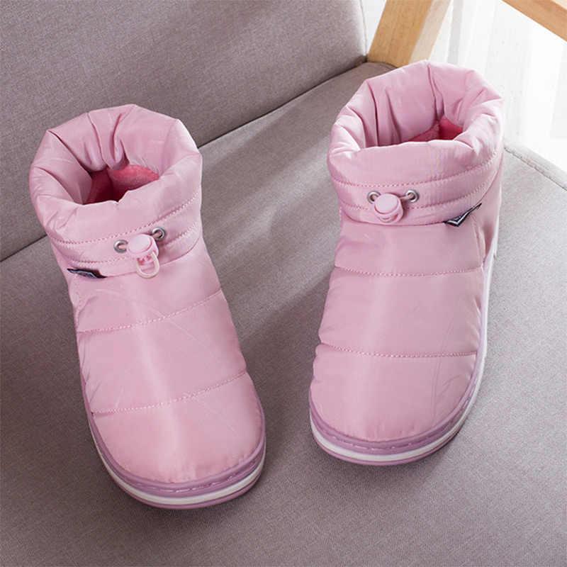 Yeni kadın sıcak kayma Pu deri yarım çizmeler kadın kış kar botları bayan dikiş katı düz platformu kadın moda ayakkabılar