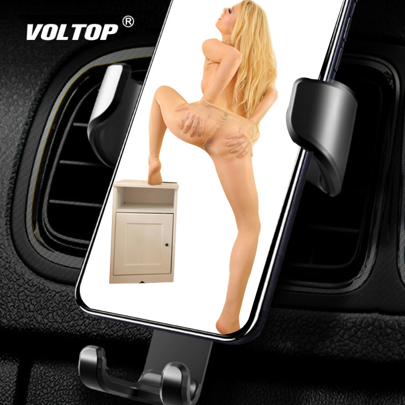 VOLTOP Noble Leather Phone Holder Car Accessories Air Outlet Universal Mobile Phone Navigation Support Stand Auto Supplies