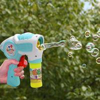 Máquina Eléctrica de burbujas de jabón para niños, soplador de burbujas de jabón automático para el verano, juguete de pistola de aire libre musical ligero para jardín