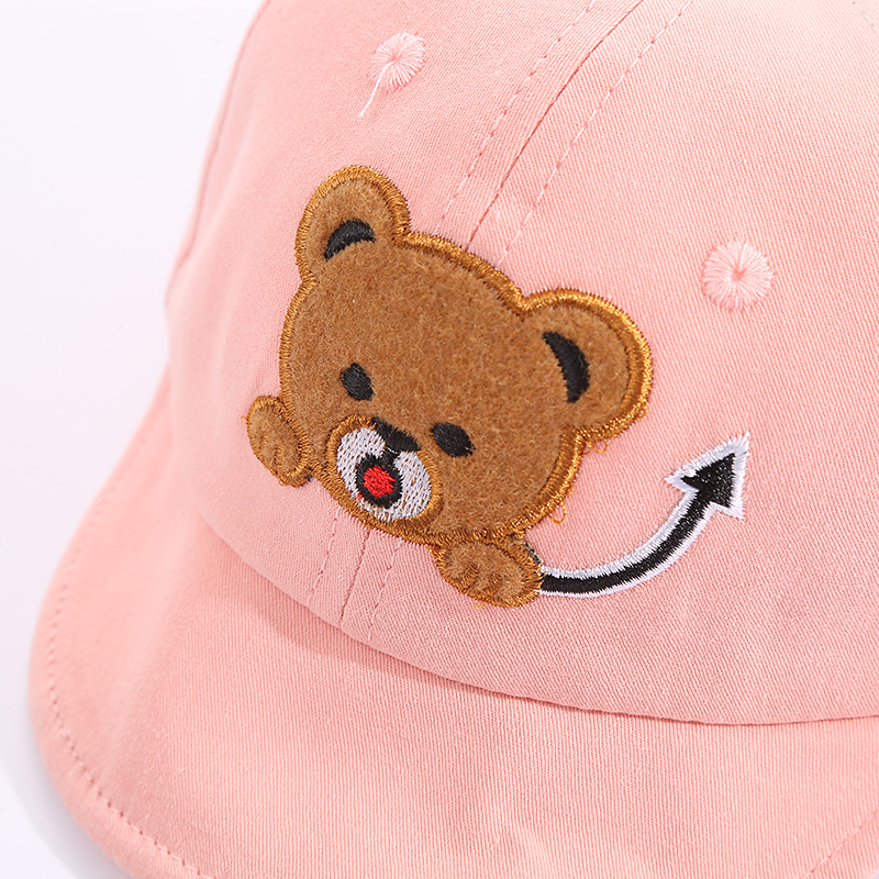 H570313b92cc44ae199ec01dc30ed1695H - Baby Hat Cute Bear Embroidered Kids Girl Boy Caps Cotton Adjustable Newborn Baseball Cap Infant Toddler Beach Outdoor Sun Hat