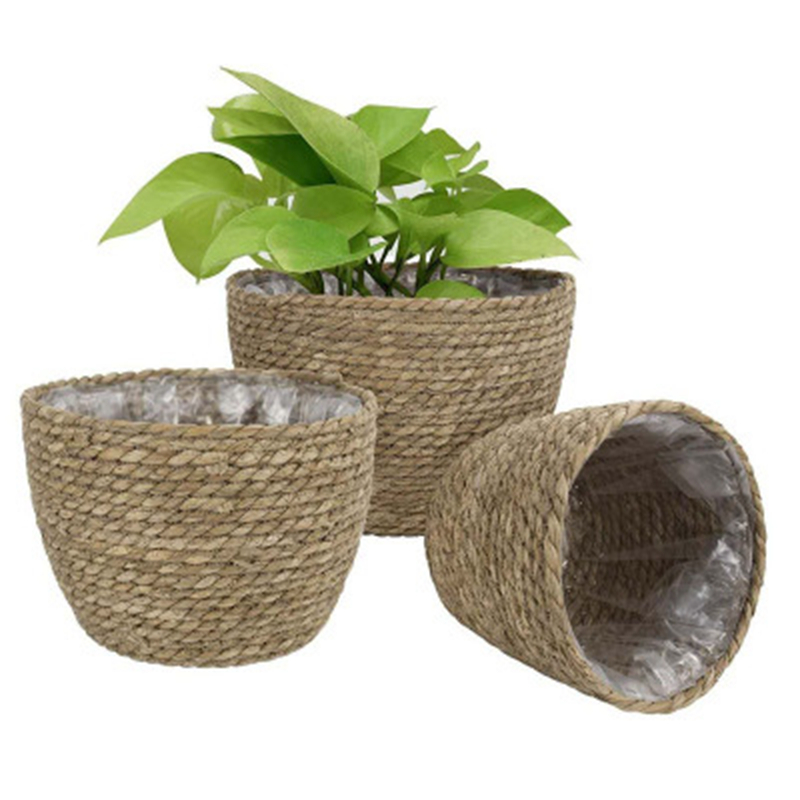 Hand-Woven Flower Pot Basket Eco-Friendly Nordic Style Eco Friendly Home Baskets » Planet Green Eco-Friendly Shop
