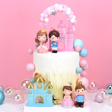 Cakelove 1Pcs Crown Princess Prince Decoration Wedding Party Supplies Bride Castle Happy Birthday Cake Topper Baking Love Gift