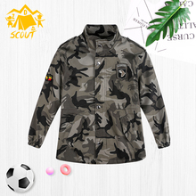 Boys coat 2019 new kids classic camouflage jacket autumn trench top casual sports
