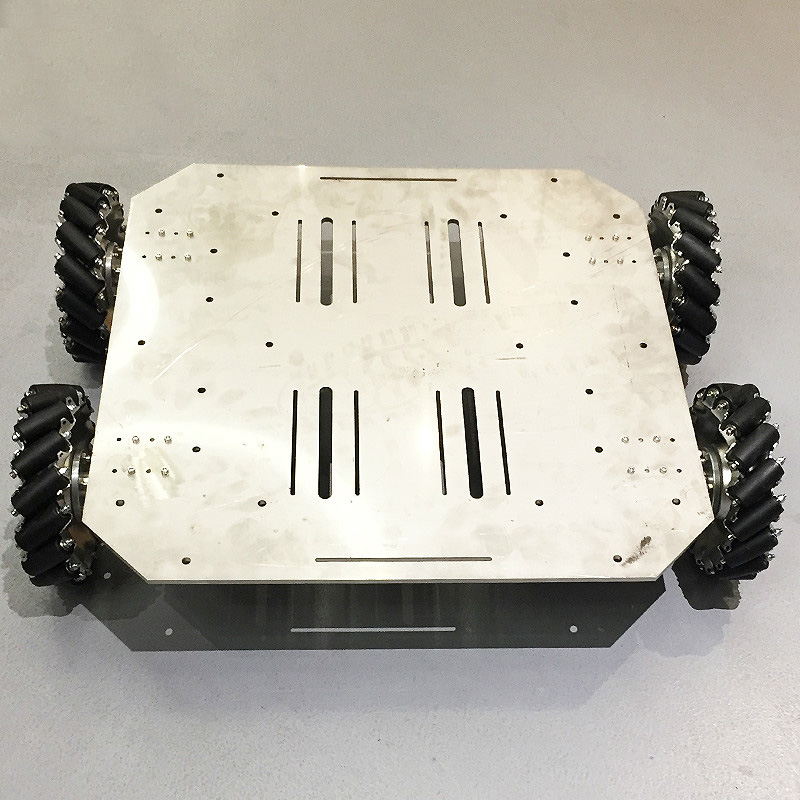 70KG Big Load Mecanum Wheel Robot Car Chassis With 4pcs 24V Encoder Motor PS2 Arduino Controller For ROS Shooting Platform