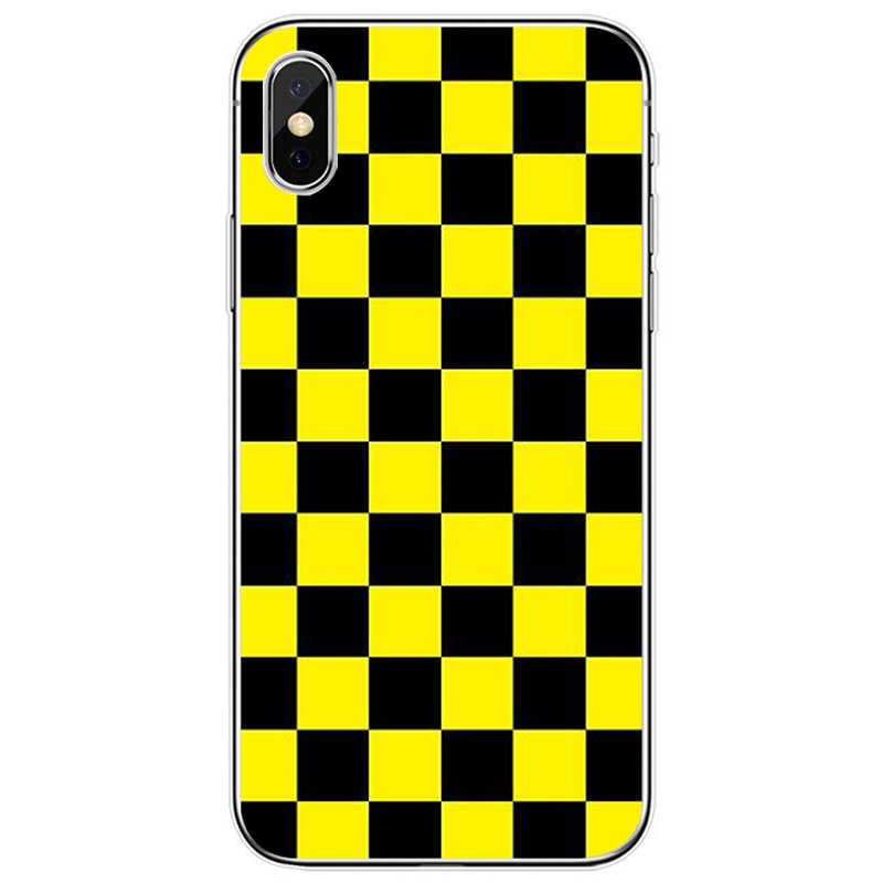 Funda para teléfono de TPU de silicona suave con cubierta a cuadros para iPhone SE 5 5S 6 6plus 7 8 plus X XR XS.