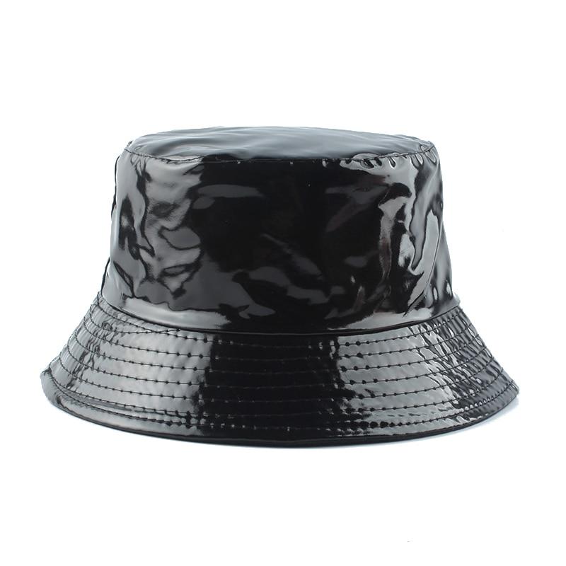 Sombrero de pescador impermeable para hombre y mujer, gorra de pescador de cuero Reversible, informal, estilo Hip hop, Unisex, 2020