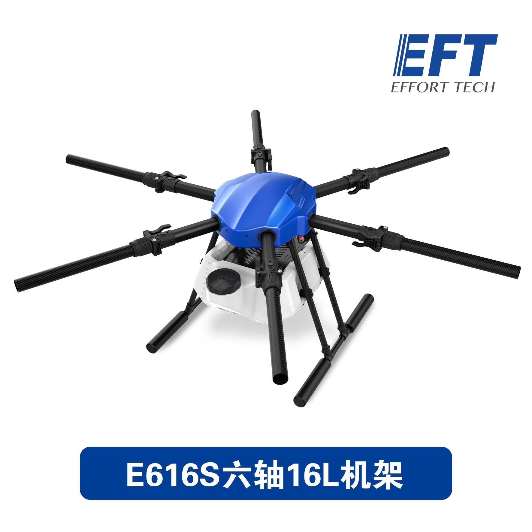 EFT nouveau E616S 1628mm 16KG plate-forme de vol d'empattement étanche Drone de pulvérisation agricole 16L