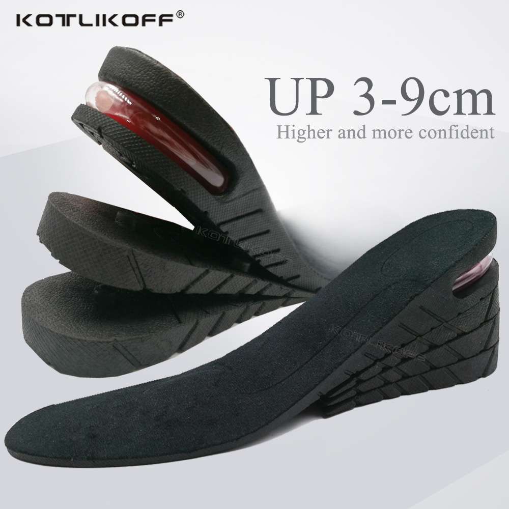 KOTLIKOFF 3-9cm Height Increase Insole Cushion Height Lift Adjustable Cut Shoe Heel Insert Taller Support Absorbant Foot Pad