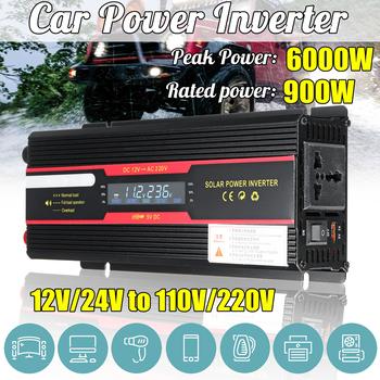 900W falownik samochodowy 12V 220V falownik solarny wyświetlacz LCD DC 12 24V do AC 110V 220V zmodyfikowany falownik sinusoidalny tanie i dobre opinie Autoleader CN (pochodzenie) 50Hz Dc 12 v Ac 220v±10