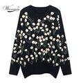 Большой толстый зимний свитер для женщин, новинка 2021, ручная работа, объемный цветочный пуловер, свитера для женщин, C-176