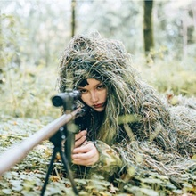 Ghillie Suits Camouflage Leafy Hunting Hood Leaf Outdoor Clothes Green Color Maple Bionic Sniper Birdwatch Pattern Accessories breathable jungle bionic camo clothes wild hunting suits for hunter oem factory