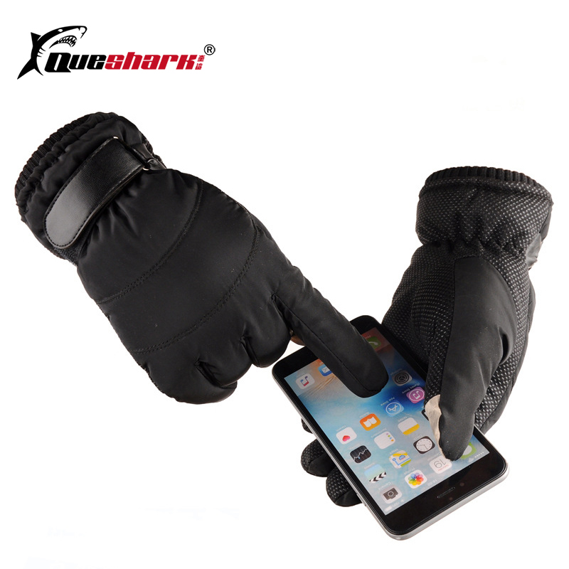 Men Women Winter Warm Skiing Gloves Outdoor Snow Sports Mittens Windproof Cold-proof Cycling Cotton Ski Snowboard Gloves Unisex