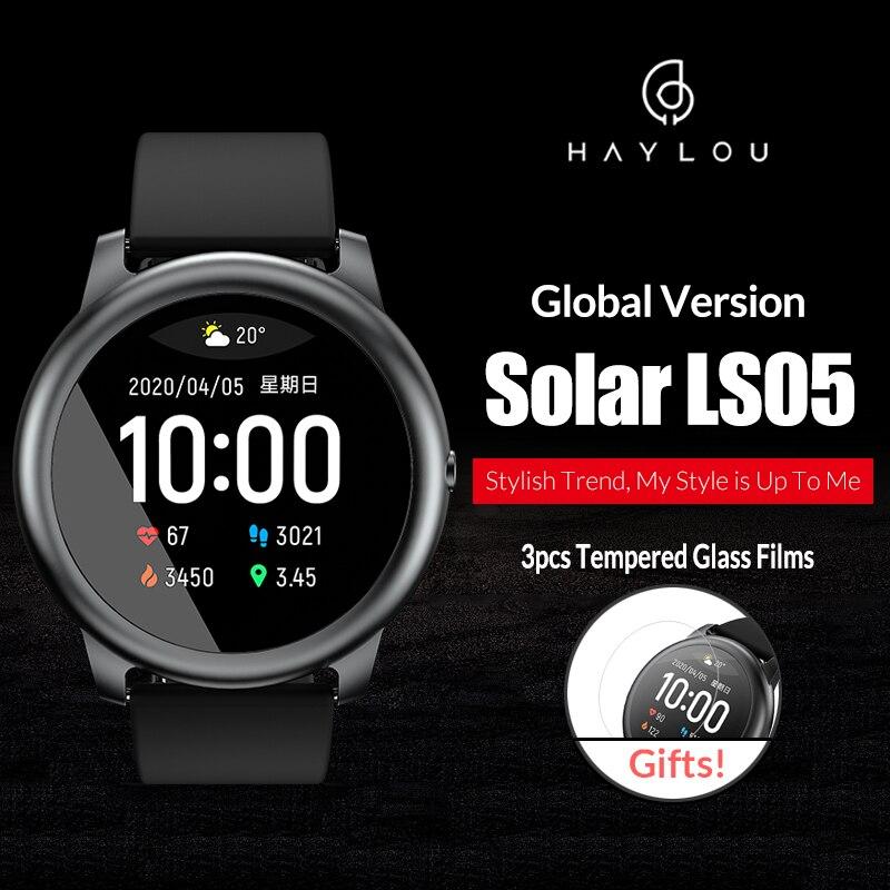 Versão global haylou ls05 solar smartwatch esporte freqüência cardíaca monitor de sono à prova dwaterproof água ios android heylou de youpin|Relógios inteligentes| - AliExpress