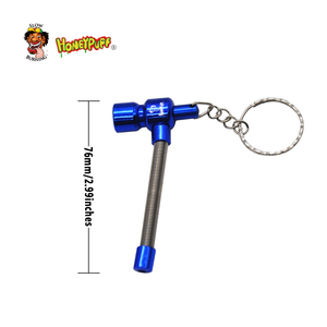 Image 2 - Honeypuff Metal Spring  Pipe Metal Portable Tobacco Pipe with Key Chain Cigarette Pipe  Accessories