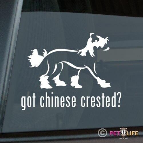 Got Chinese Crested Sticker Die Cut Vinyl - V2 Puff Window Decal