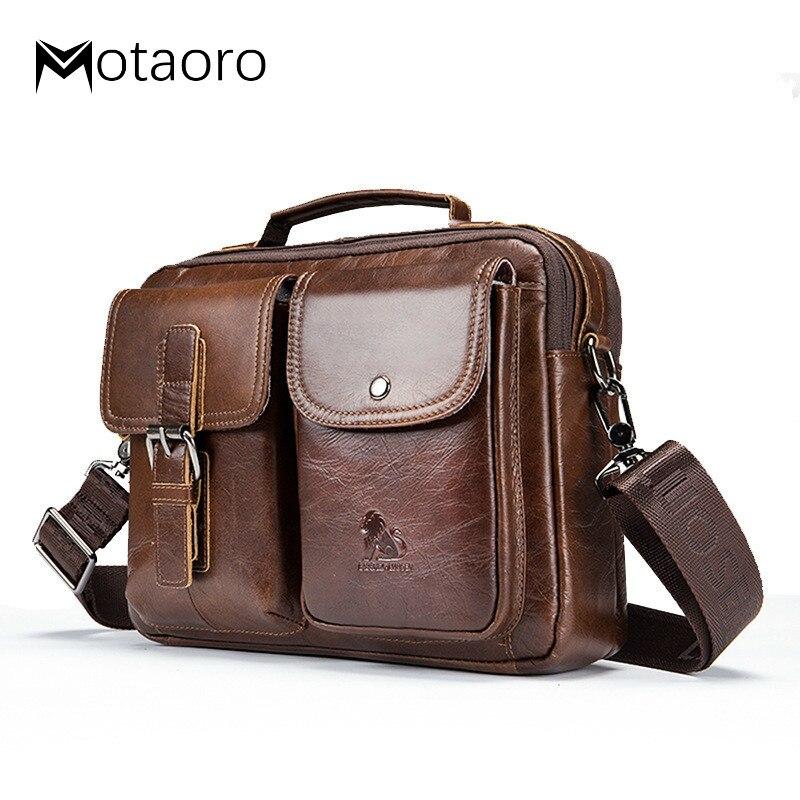 Men Bags Genuine Leather Shoulder Messenger Bag Men's Handbag Vintage Crossbody Bag Tote Business Man Messenger Bag Bolso Hombre