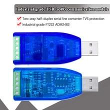 Usb industrial para rs485 422 conversor ch340g atualização proteção conversor compatibilidade padrão RS-485 um conector placa módulo