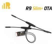 Frsky r9 magro + ota receptor acesso 900mhz saídas de longo alcance 6 pwm com antenas duplas de t