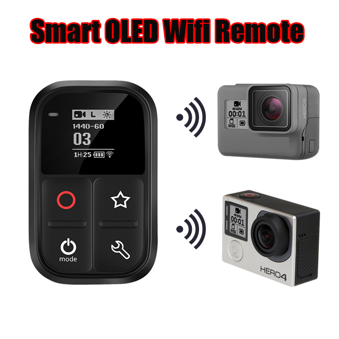 New Waterproof Wireless WiFi <font><b>Smart</b></font> <font><b>Remote</b></font> For <font><b>Gopro</b></font> <font><b>Hero</b></font> 8 7 <font><b>6</b></font> 5 Black Go pro 4 5 Session 3 3+ <font><b>Hero</b></font> Camera Accessories image