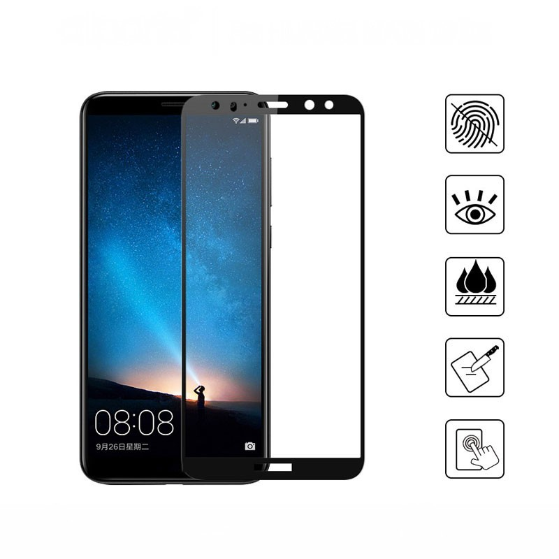 5D Curved Edge Full Covered For Huawei Mate 10 Lite Tempered Glass Screen Protector-in Phone Screen Protectors from Cellphones & Telecommunications