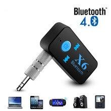 X6 Bluetooth передатчик Aux Usb автомобильный музыкальный приемник адаптер 5,0 мм Bluetooth адаптер MP3 музыкальный адаптер для автомобильного плеера