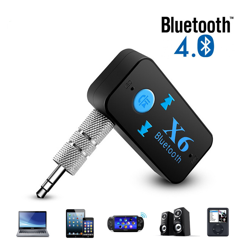 X6 Bluetooth Transmitter Aux Usb Car Play Music Receiver Adapter 5.0 mm MP3 For car player