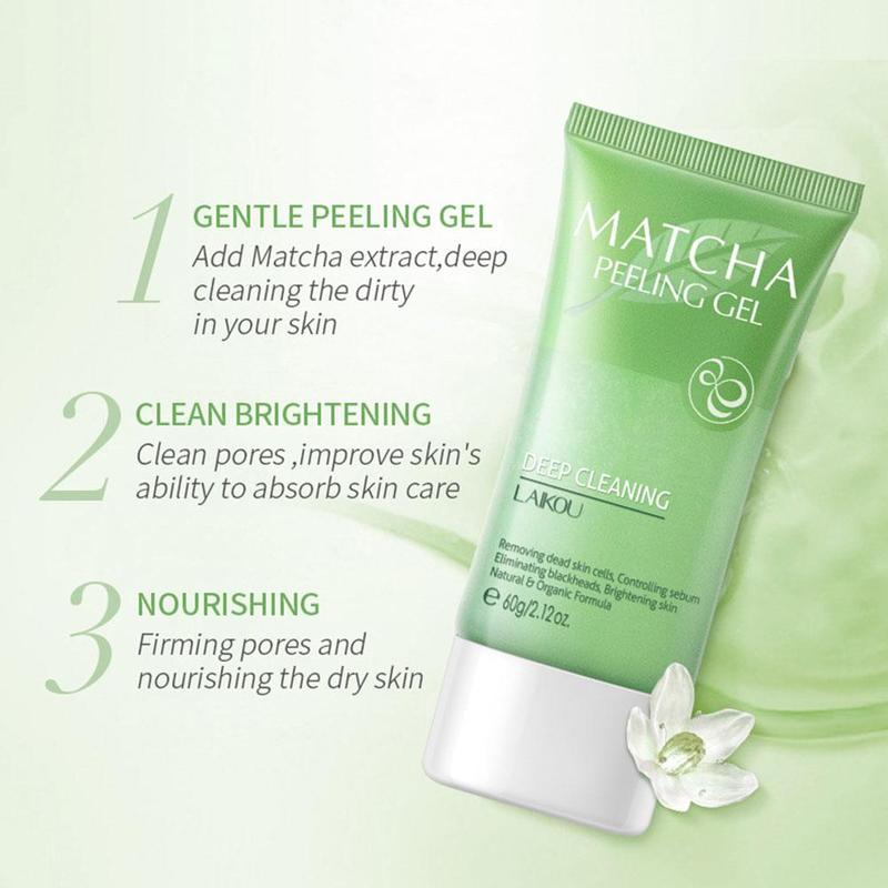 Facial Cleanser Natural Facial Exfoliator Exfoliating Whitening Brightening Peeling Cream Gel Face Scrub Removal Deep Cleaning