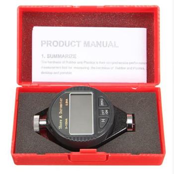 Wyświetlacz LCD 0-100HA cyfrowy miernik twardości Shore A C D twardościomierz opony plastikowe gumowe narzędzia testowe Durometer (bez baterii) tanie i dobre opinie NoEnName_Null DIGITAL