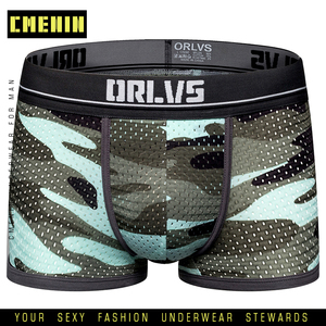 Camouflage Cuecas Men Boxer Underwear Homme Mens Underwear Boxershorts Male Boxers Sexy Boxer Shorts Cotton Mesh Panties OR191