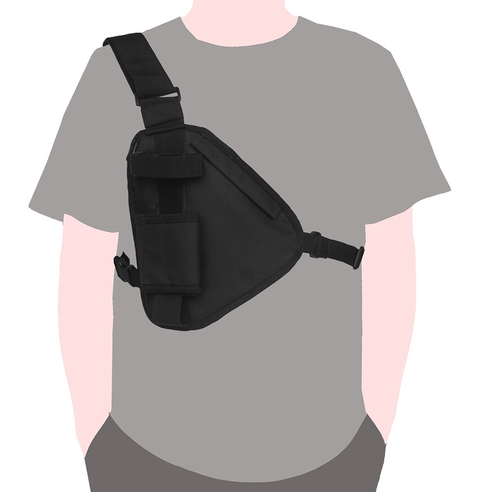 Tactical Chest Bag Portable Walkie Talkie Pouch Military Shoulder Bag Utility Pocket Phone Holder Gun Bag for Hunting Shooting title=