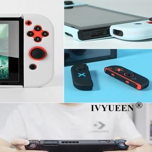 Image 4 - IVYUEEN עבור Nintend מתג NS NX קונסולת מגן מקרה קשה מעטפת עבור Nintendo מתג JoyCon שמחה קון צבעוני כיסוי אחורי