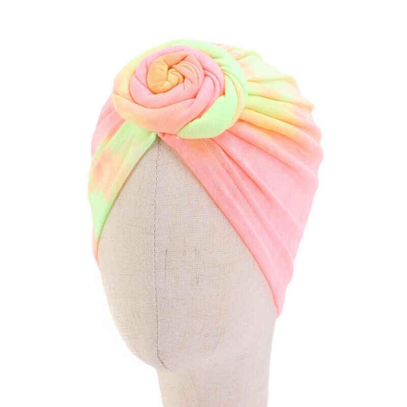 Girdap çörek müslüman şapka boyalı renkli çocuk kız saç türban kap kemoterapi kap çocuk şapkalar İslam saç dökülmesi golf sopası kılıfı