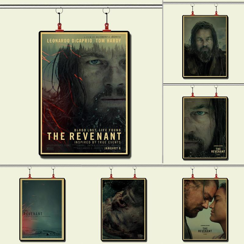 <font><b>Leonardo</b></font> <font><b>DiCaprio</b></font> Once Upon A Time In Hollywood The Revenant Vintage Paper Poster Wall <font><b>Painting</b></font> Decoration 42X30 CM 30X21 CM image