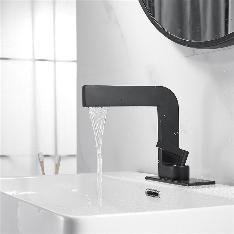 Basin Faucet Modern Black Bathroom Sink Mixer Tap Brass Chrome Wash Basin Faucet Single Handle Single Hole  Crane For Bathroom