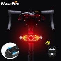 Intermitentes de bicicleta con Control remoto, indicador de dirección para bicicleta de montaña, Luz LED trasera, recargable vía USB, luz trasera con bocina