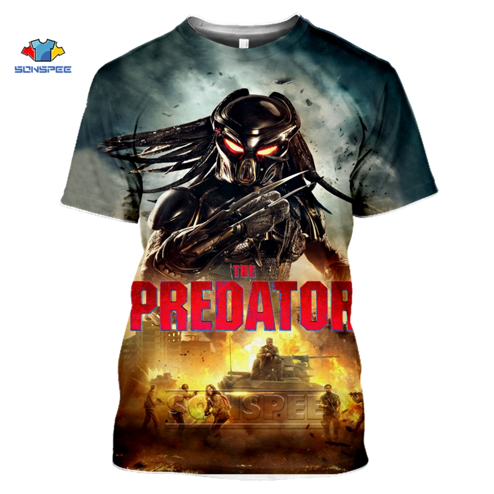 SONSPEE The Predator T Shirt Fashion Men Women Sweatshirt 3D Print Movie Hip Hop streetwear Unisex Tops O Neck Harajuku Pullover