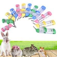 1pc 80/125/250ml plástico hamster bebedor dispensador de garrafa de água alimentador pendurado cão de estimação cobaia porco esquilo coelho beber cabeça