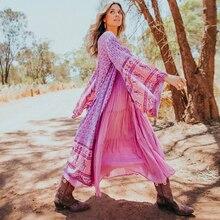ללבוש ארוך פרחוני קרדיגן