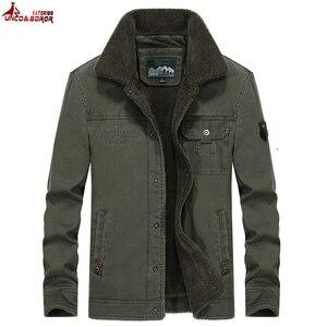 Nova jaqueta de inverno dos homens militar blusão streetwear grosso parka casacos hombre 100% algodão quente lã forro dos homens roupas casaco