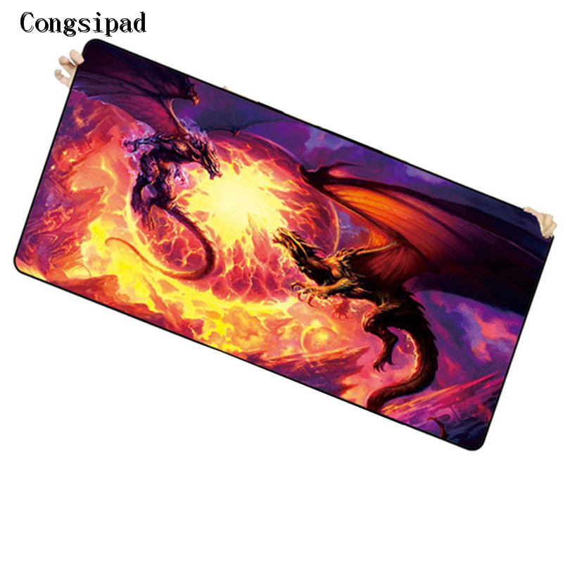 Congsipad Shop Dragon Free Shipping Locking Edge Large Gaming Mouse Pad Mats for Computer Laptop Notbook for League of Legends