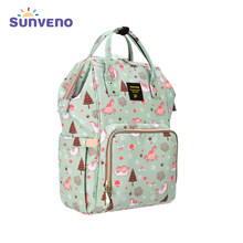 SUNVENO Mummy Maternity Diaper Nappy Bag Organize Large Capacity Baby Bag Backpack Nursing Bag for Mother Kids Baby Care(China)