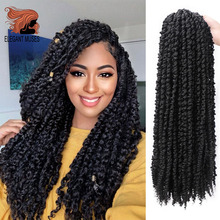 ELEGANT MUSES Pre Twisted Passion Twist Hair 18inches Long Ombre Crochet