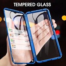 Étui de protection Double face magnétique complet pour Xiao mi mi A3 verre trempé dos + avant pour Xiao mi A3 mi A3 étui Transparent