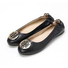 Marke Frauen Schuhe Ballett Wohnungen Frau Casual Boot Schuhe Mode Faulenzer Spitz Weiche Leder Schuhe Top Qualität 34-41