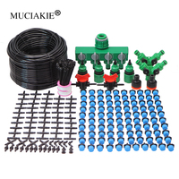 MUCIAKIE 5-50m Micro Drip Irrigation System Plant Self Automatic Watering Timer Garden Hose Watering Kits w Adjustable Dripper