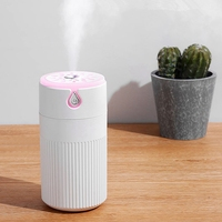 USB Air Humidifier for Car 420ML Ultrasonic Essential Aromatherapy Oil Diffuser with Colorful Lamp Mist(White)|Humidifiers| |  -