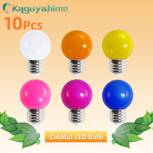 Kaguyahime 10 قطعة الملونة E27 لمبة Led مصباح E27 3 واط غلوب Lampada التيار المتناوب 220 فولت SMD 2835 RGB مصباح يدوي G45 Led بقعة ضوء Bomlillas(China)
