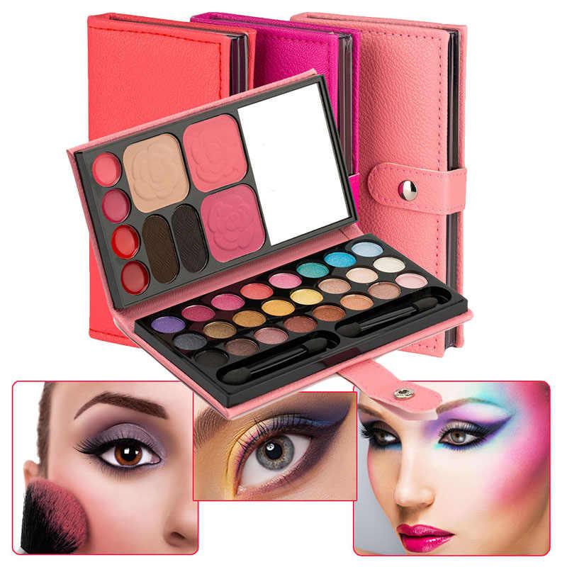 צללית צבעים 33 צבעים לאורך זמן סומק שפתון גבות אבקת נייד עבור נשים LDO99