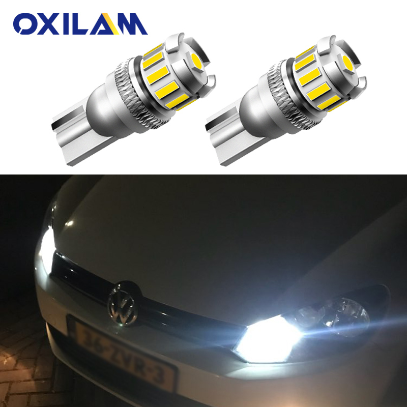 2Pcs Canbus T10 W5W LED Lamp Parking Light Bulb for VW Passat B5 B6 B7 B5.5 CC Bora Tiguan Touareg Touran GTI Jetta Polo Carfter(China)