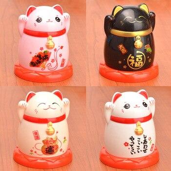 Бытовой футляр для зубочисток кухонные аксессуары Китай Lucky Cat Диспенсер Для Зубочисток держатель коробки для гостиной